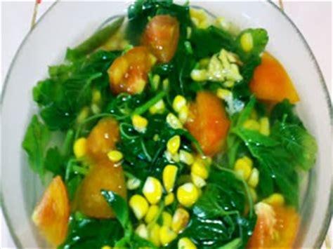 resep masakan sayur bening bayam