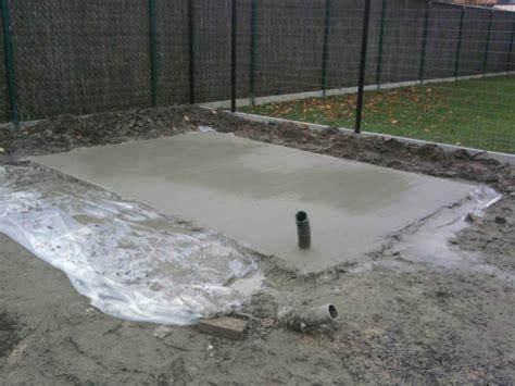 fundering gieten tuinhuis vloerplaat voor tuinhuis deltour kevin