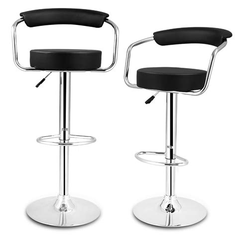 Black Bar Stools With Back Support by Kitchen Stools With Back Support Wow