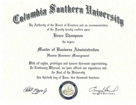 Mba Joint Degree Columbia by Mba From Columbia Southern