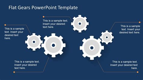 template powerpoint gear modern flat gears powerpoint template slidemodel