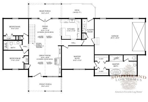 southland floor plan madison home log plan by southland log homes