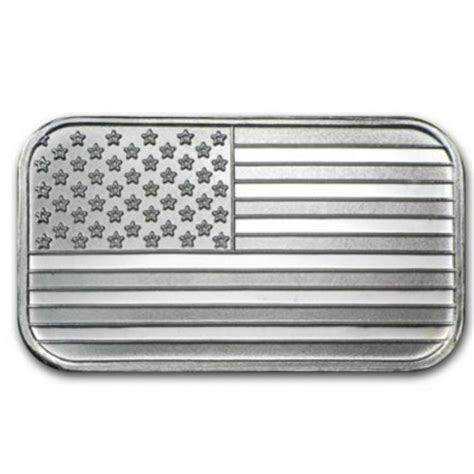 1 Troy Oz Silver Bar - 1 troy oz silver bar us flag goldsilver be