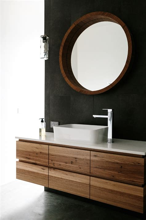 Bathroom Vanity Bench Wood Custom Timber Vanity Bringing Warmth To Your Bathroom