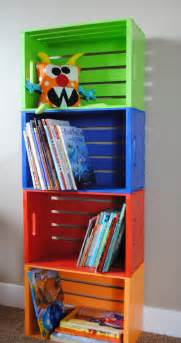Bookshelves Made From Crates Diy Bookshelf Made From Crates