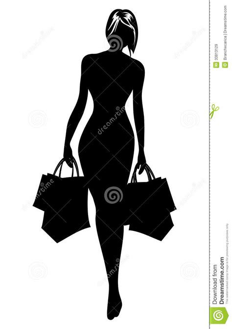 royalty free stock vector illustration models picture silhouette in shopping stock vector image 33813129