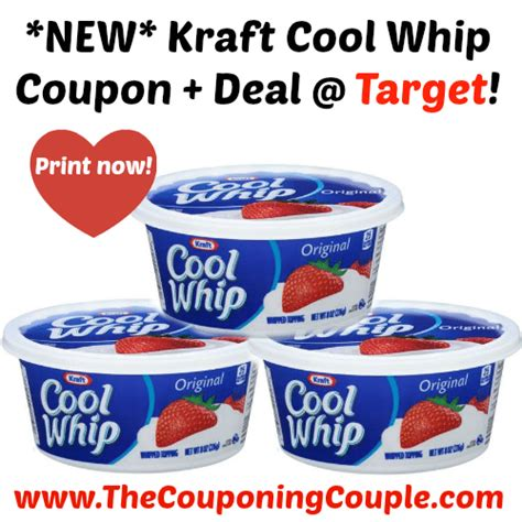 cool whip coupons new kraft cool whip coupon deal target