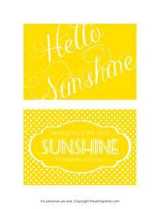 send a box of sunshine free printables
