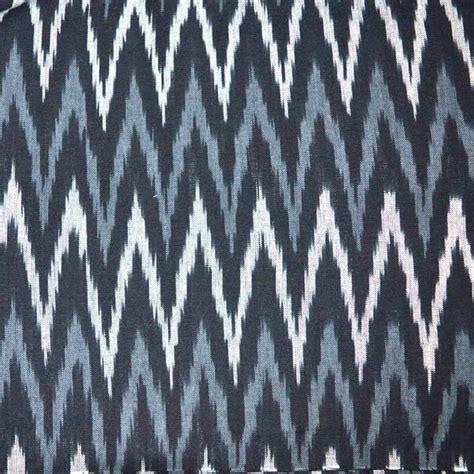 zig zag pattern grey buy white and gray zig zag pattern ikat print fabric on