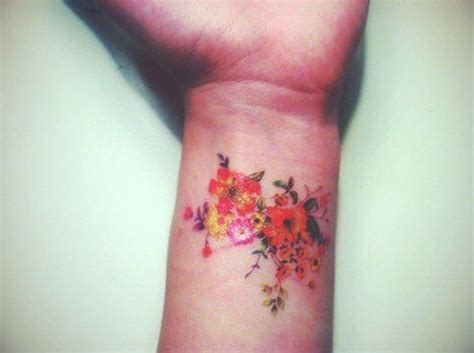 colour flower tattoo designs 23 flowers wrist tattoos