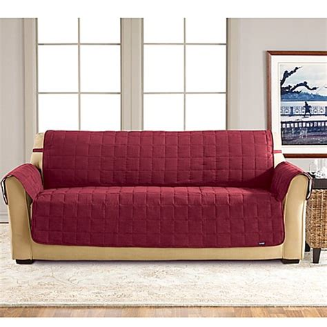 waterproof sofa slipcover sure fit 174 waterproof sofa slipcover bed bath beyond