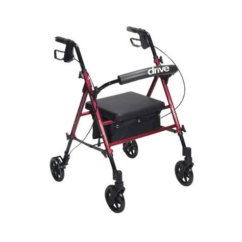 rollator with seat second drive universal seat height aluminum rollator