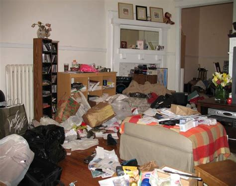 Cluttered Living Room | do some households actually stay generally clean