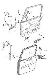 Jeep Door Parts Tj Wrangler Steel Door Parts 4 Wheel Drive