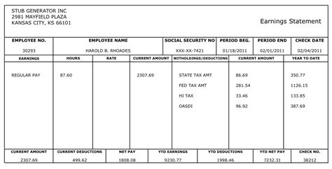 Create A Pay Stub Template by Instant Paycheck Stub Generator Generate Pay Stubs