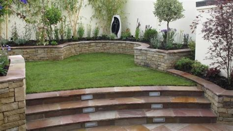 hillside haven with two levels of outdoor living hwbdo76794 a split level garden design owen chubb garden landscapers