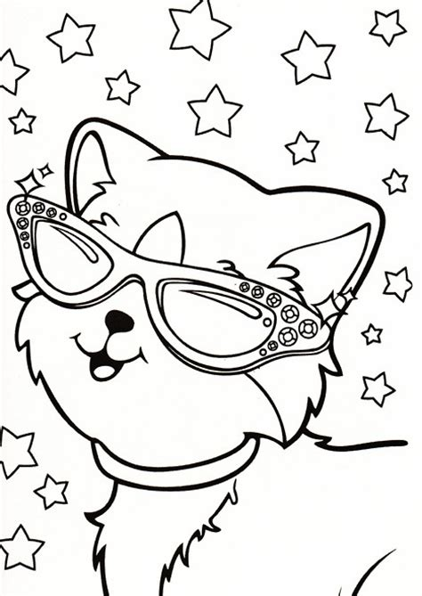 angel kitty coloring pages lisa frank coloring pages bestofcoloring com