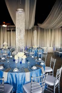 wedding with blue silver ivory wedding