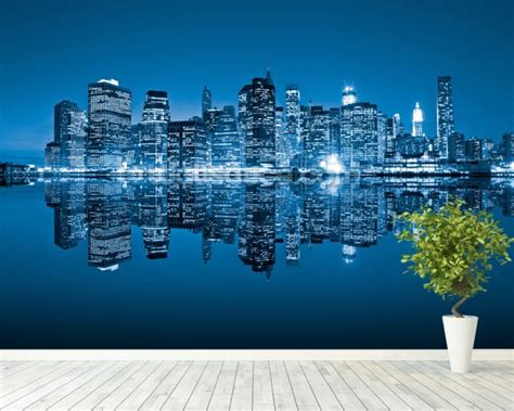 manhattan wall mural manhattan new york city wallpaper wall mural wallsauce