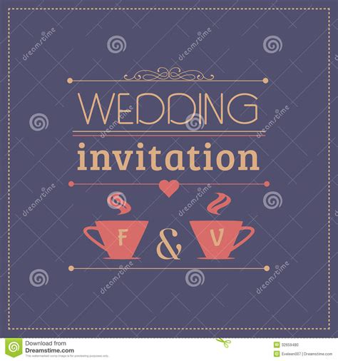 Credit Card Wedding Invitation Template Wedding Invitation Card Template Stock Photo Image 32659480