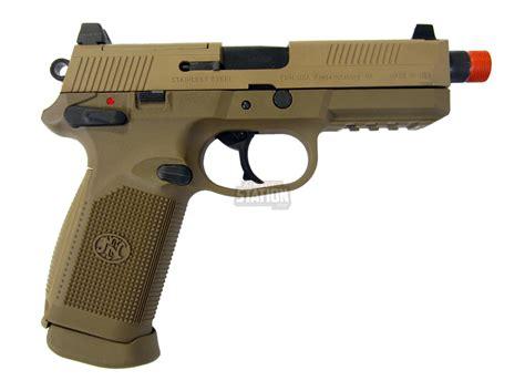 metal tactical fn herstal fnx 45 tactical metal gas blowback airsoft pistol