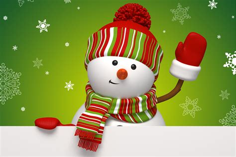 snowman waving wallpapers and images wallpapers