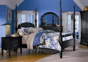 poster bed bedroom sets martha s vineyard black poster platform bed bedroom furniture set by liberty furniture