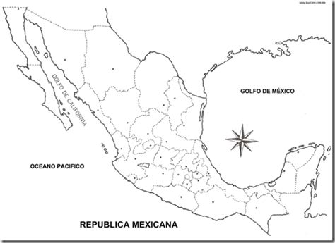 coloring page mexico map map of mexico with political division coloring pages