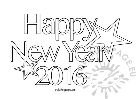 2016 Year Colouring Pages Happy New Year Coloring Pages