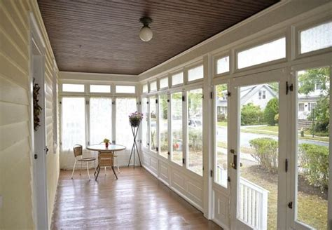 Glass Enclosed Porch giving an house in south orange a fresh start an front porches and glasses