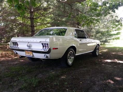 white 1968 mustang seller of classic cars 1968 ford mustang wimbleton