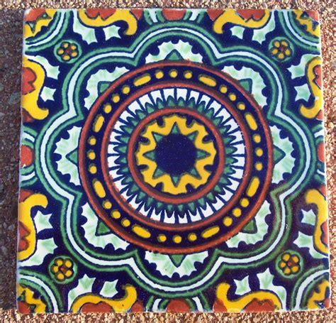 tepupa talavera mexican tile 9 mexican talavera pottery 4 quot tile hand painted aqua teal