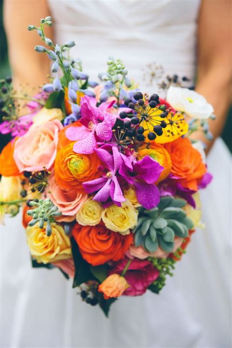 bright colored flowers 183 best images about multi colored wedding colors and