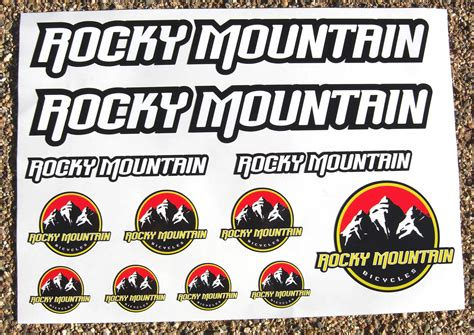 Kaos Rocky Bike Graphic 1 Oceanseven rocky mountain bike mtb cycle frame decals stickers