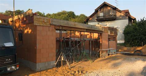 Werkstatt Auã En by Aua S Baublog Ringanker Garage Und Werkstatt Sind Fertig