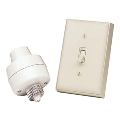 Basic Wireless Light Switch Kit by Shop Heath Zenith Light Almond Light Switch At Lowes