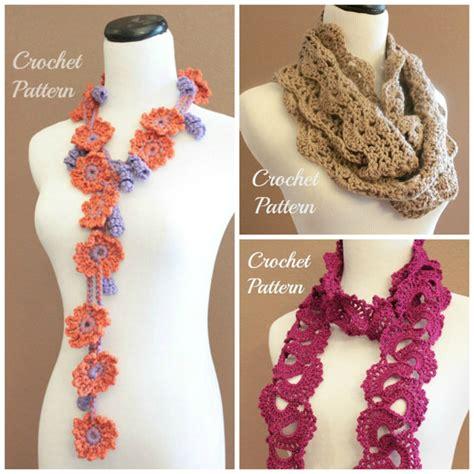 crochet pattern queen anne s lace scarf crochet pattern bundle queen anne s lace scarf by onthehook