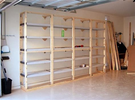 build garage shelves 20 diy garage shelving ideas guide patterns