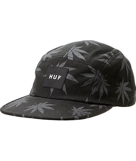 Topi Huf 5panel Huf 5panels Huf 5 Panel Huf 5 Panels Huf 2 huf plantlife black 5 panel hat