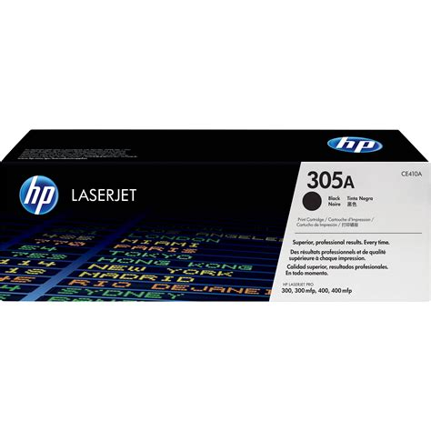 hp 305a black laserjet toner cartridge ce410a b h photo