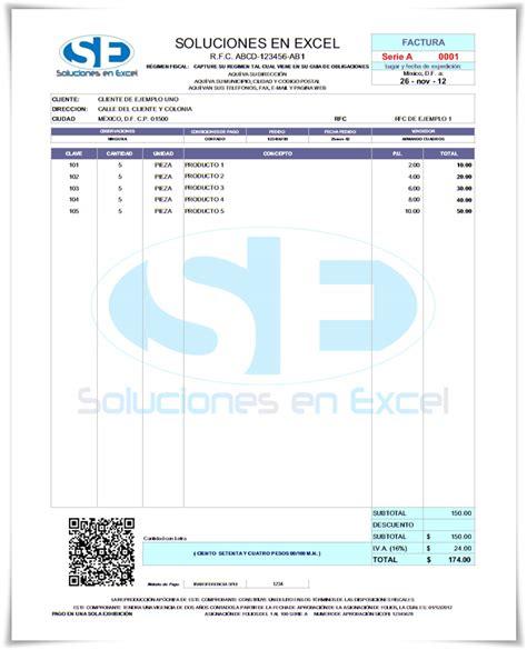 formato de facturas en excel mexico formato de facturas en excel mexico