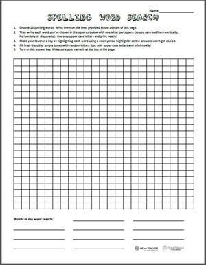 free printable spelling word search worksheet weareteachers