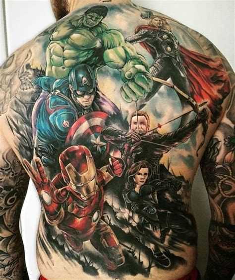 avengers tattoo sleeve an portrait you ll never forget marvel tattoos