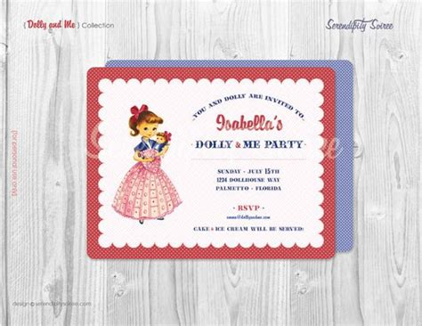 printable invitations near me dolly and me party custom printable invitation doll