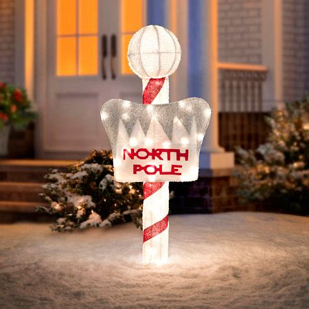 lighted north pole sign outdoor christmas decoration