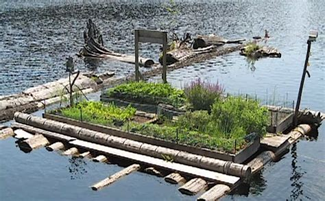 floating vegetable garden 675 square small grid float cabin in coastal