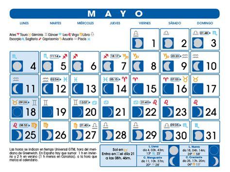 lunas mes de mayo 2016 calendario lunar mayo de 2015