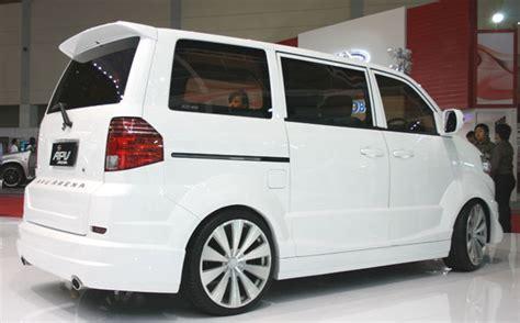 suzuki apv white luxury modified velg ceper