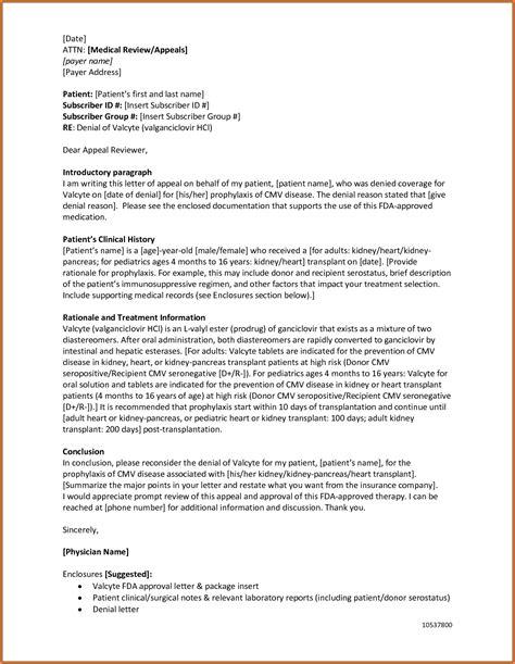 11 insurance appeal letter adjustment letter