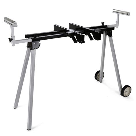 universal table saw stand with wheels eberth universal mitre saw chop table sliding bench stand
